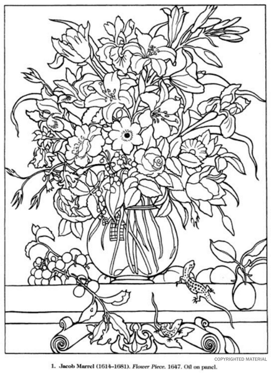 advanced flower coloring pages free printable coloring pages for adults advanced at flower advanced pages coloring
