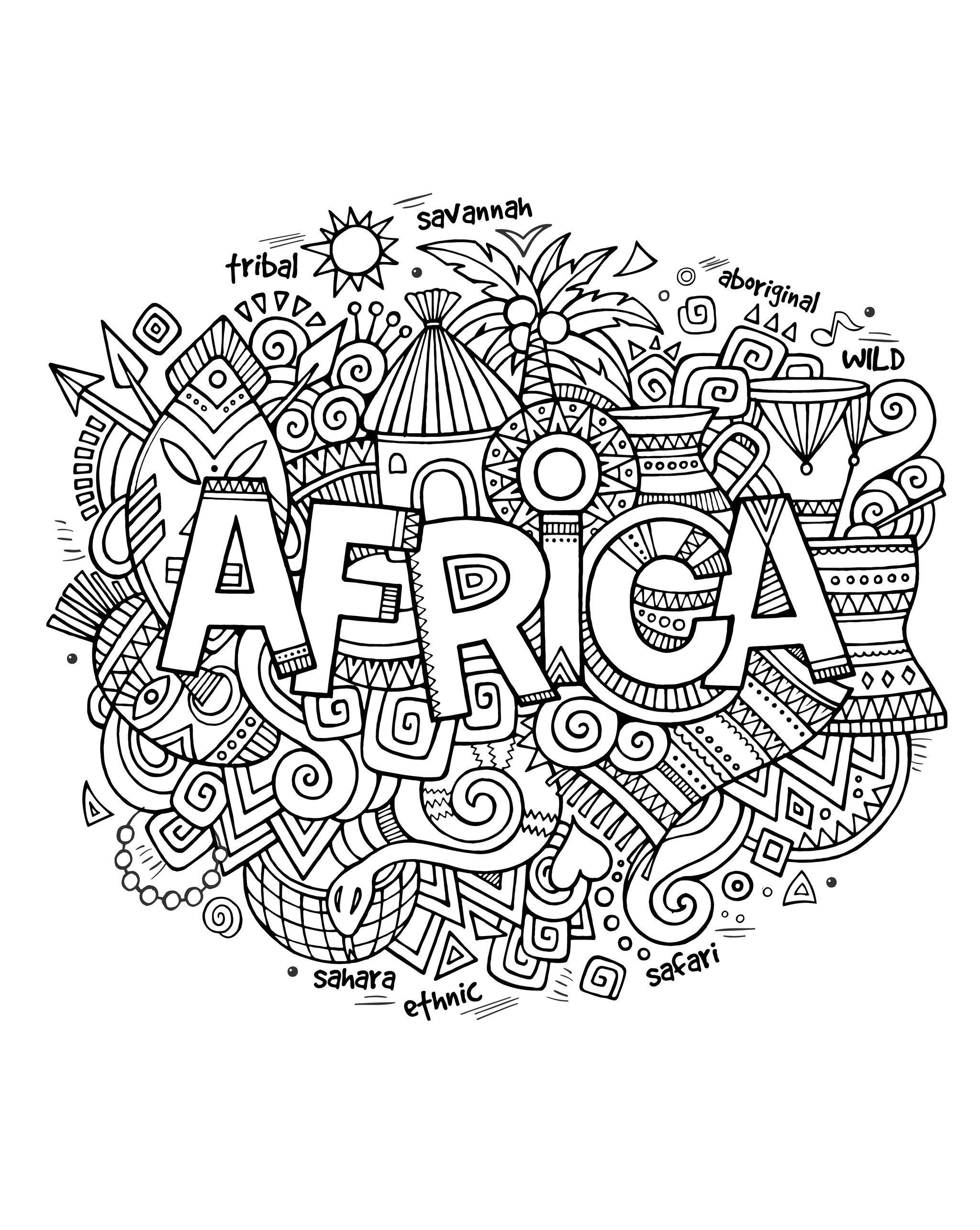 africa coloring map pin on shyloh 5th birthday map africa coloring