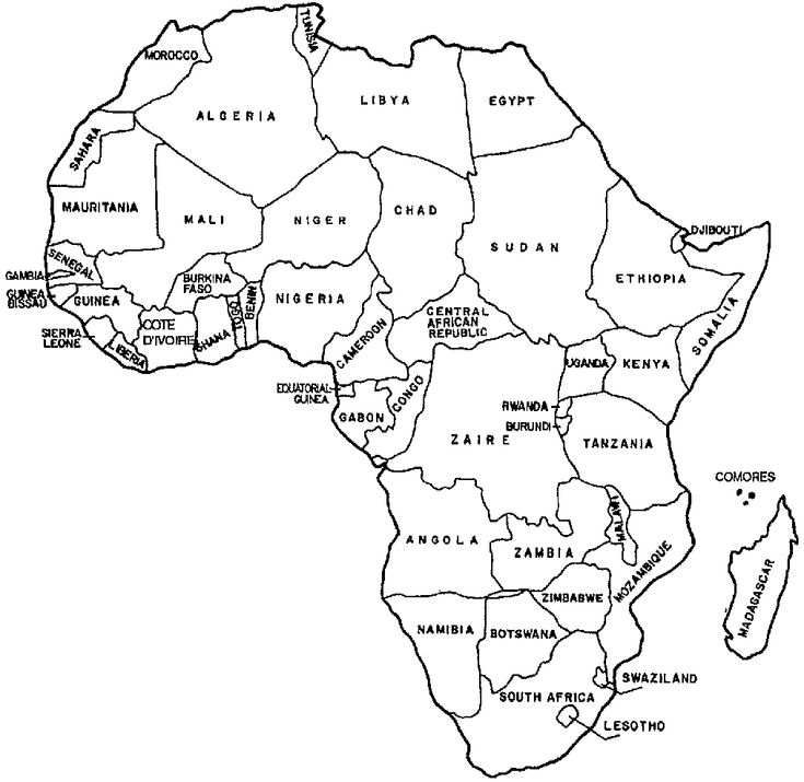 africa coloring map the continent of africa coloring page coloring home coloring africa map