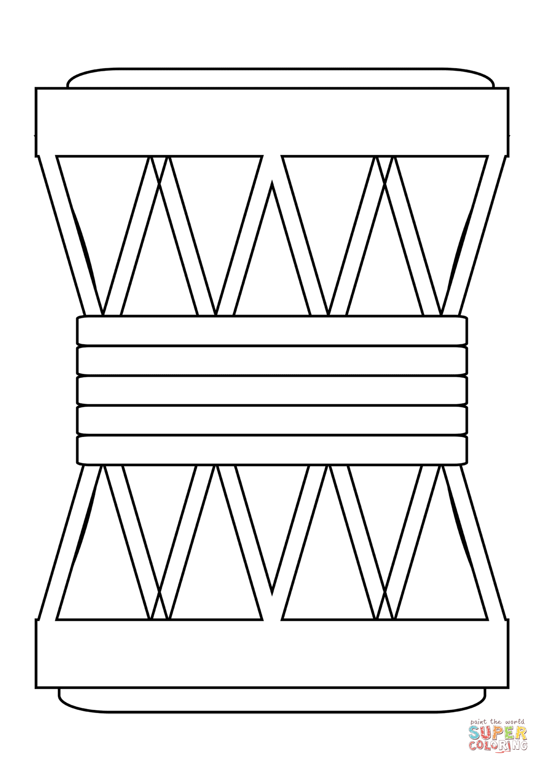 african drum coloring page africa make mini drum music edmulticultural drums page coloring african drum