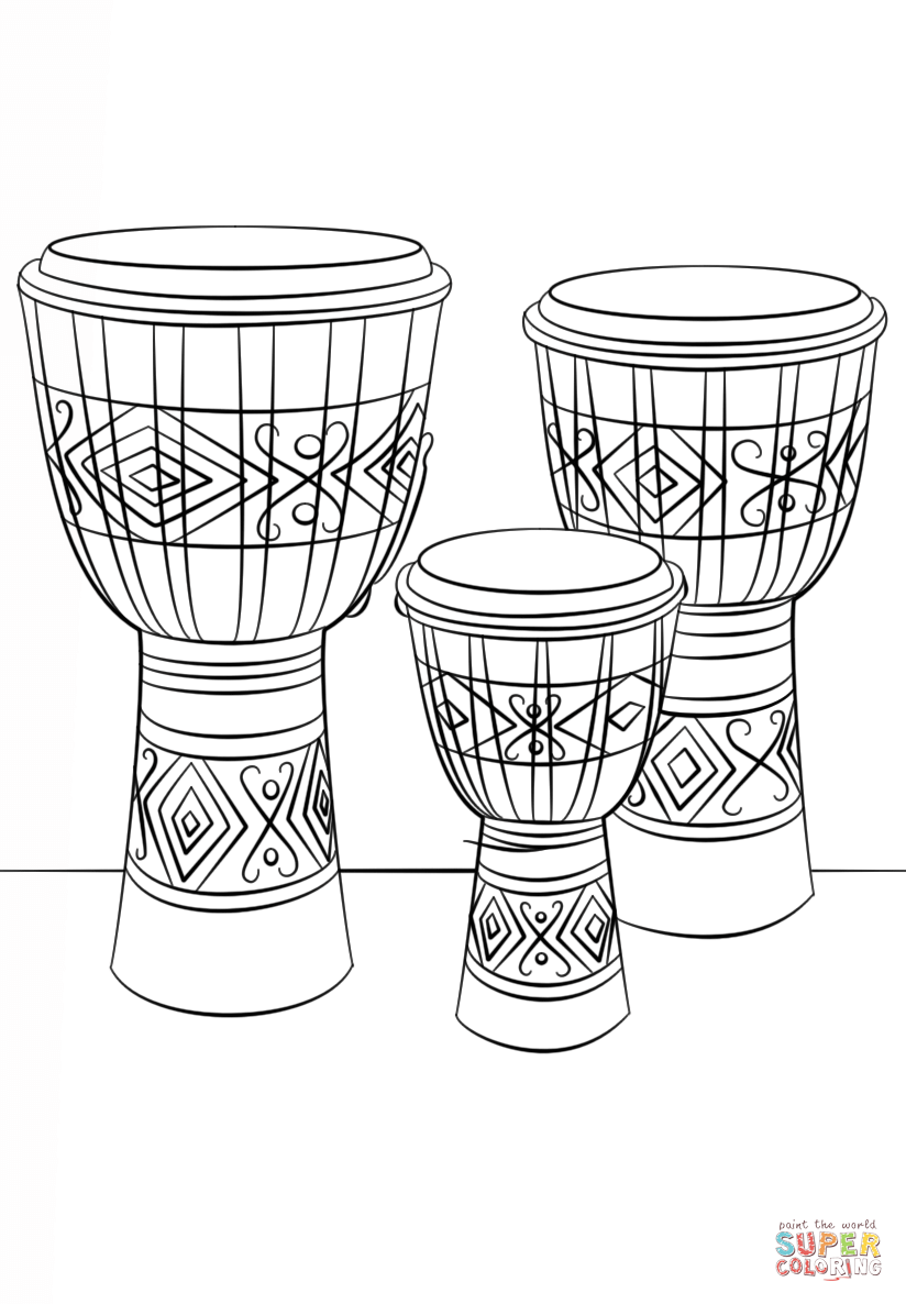 african drum coloring page african drums coloring page free printable coloring pages coloring page drum african
