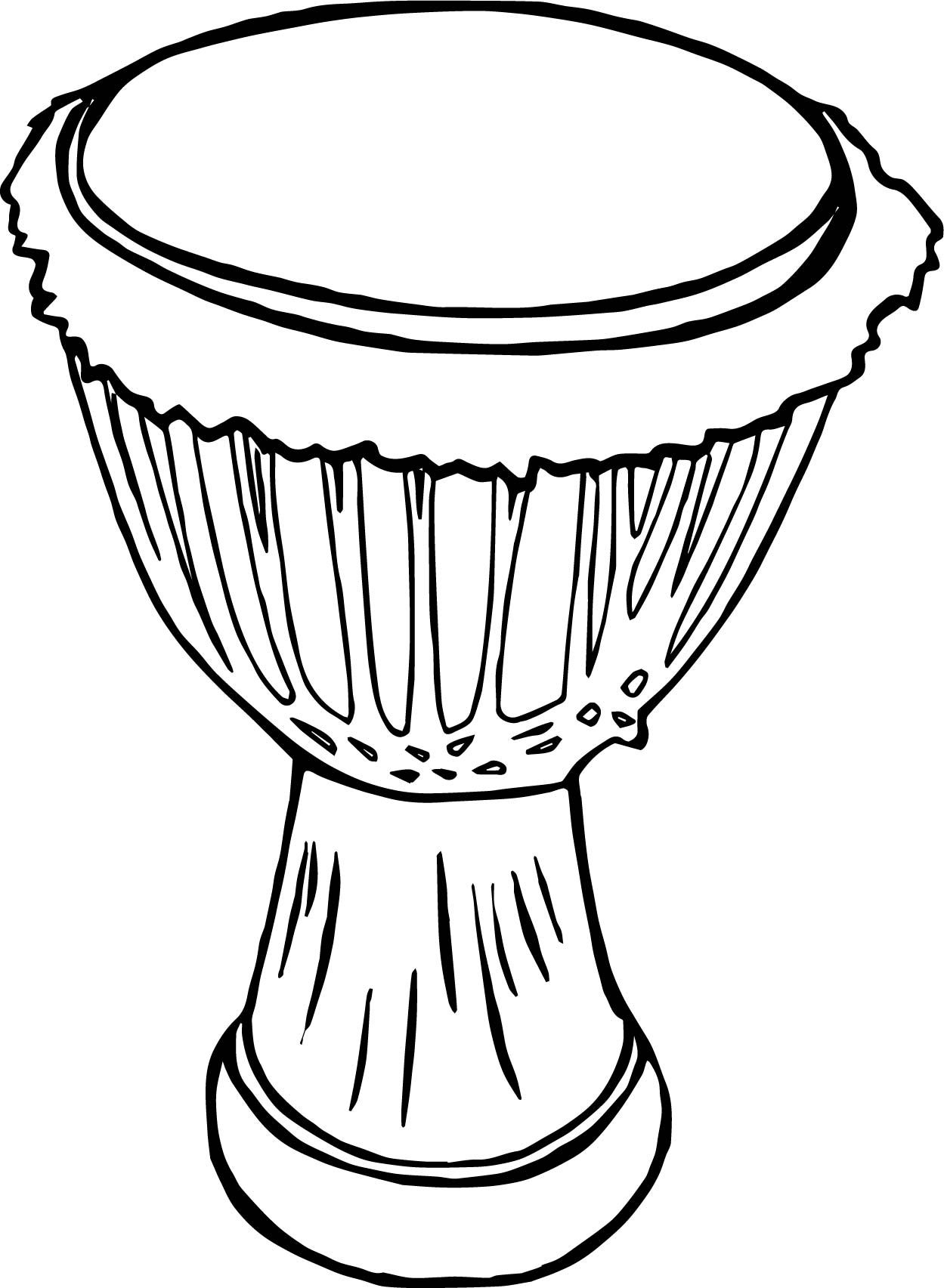 african drum coloring page coloring page african drum to color online coloringcrew coloring page african drum