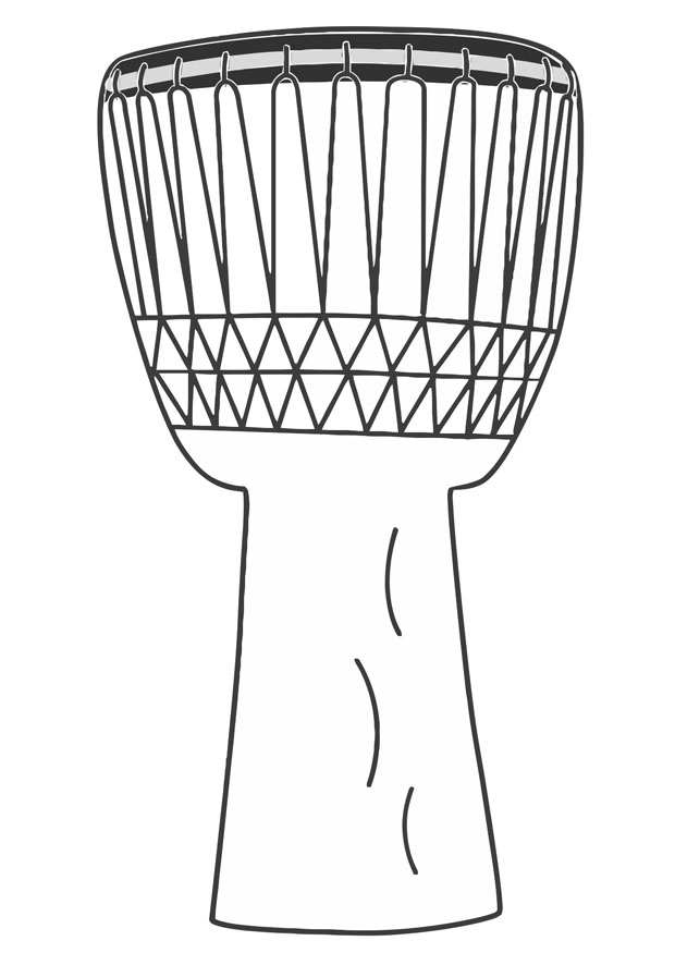 african drum coloring page conga drum coloring page tumbadora african drum african coloring drum page