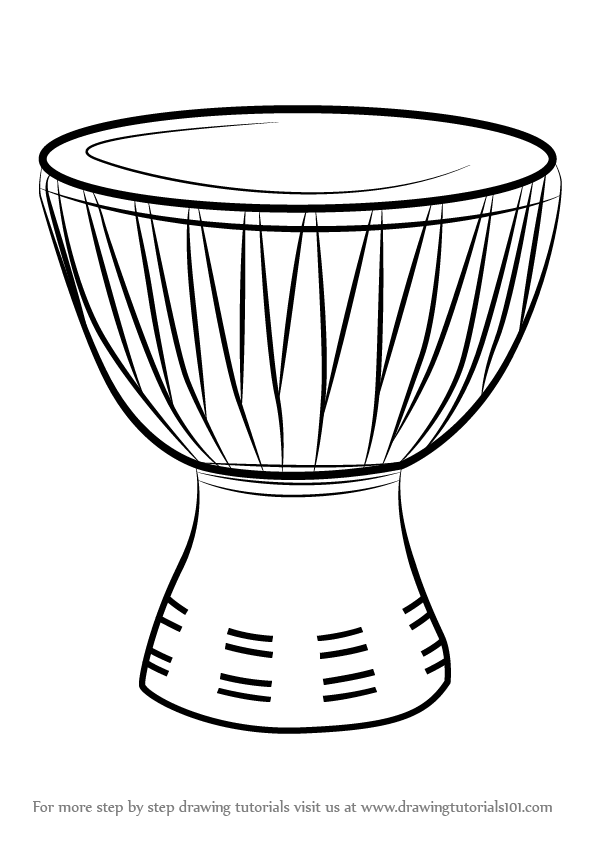 african drum coloring page djembe or african drum kiddicolour page drum african coloring