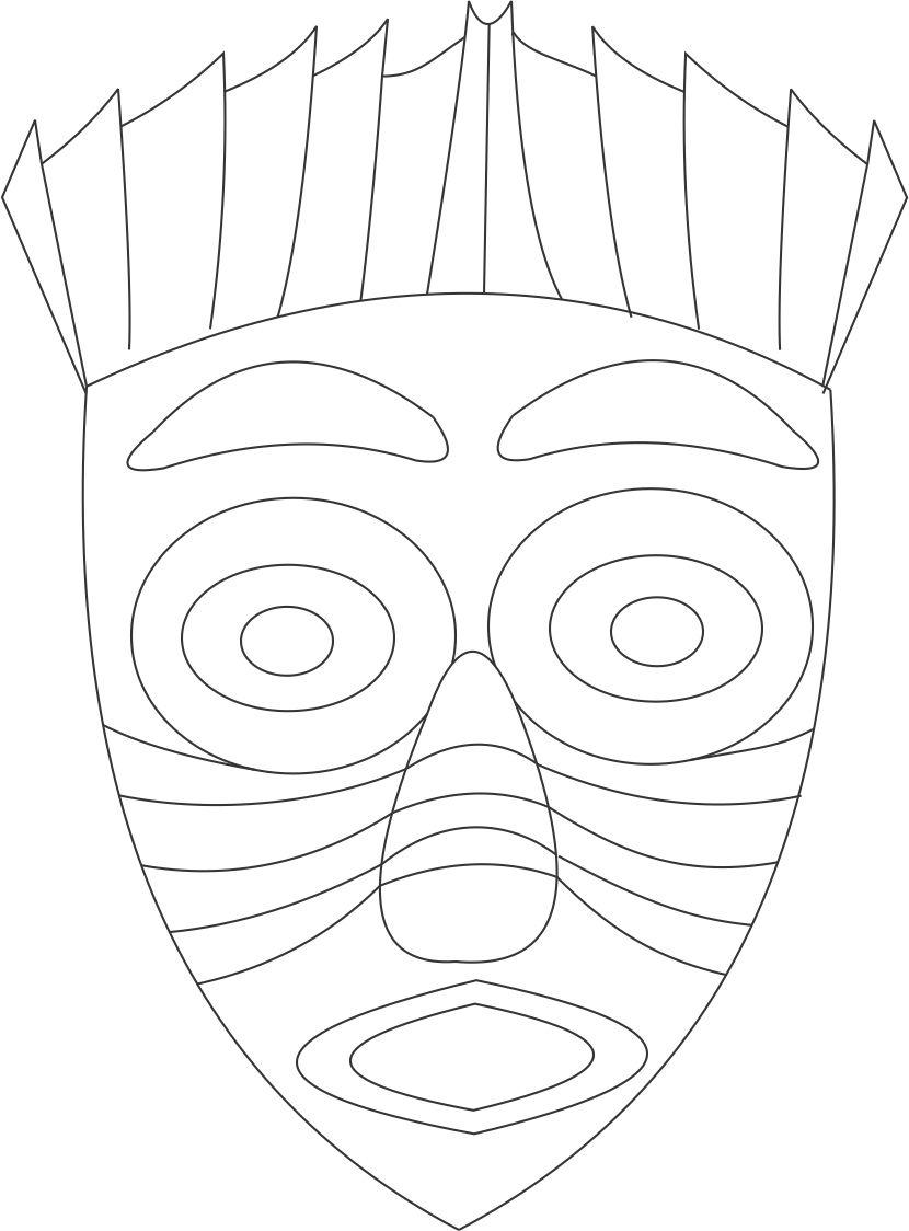african masks coloring sheets african mask drawing at getdrawings free download sheets coloring masks african