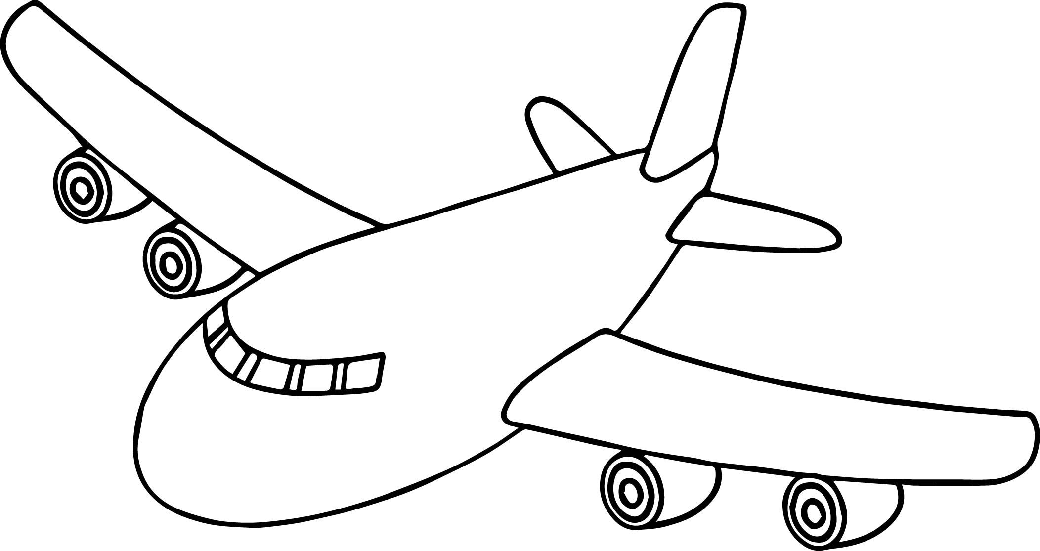airplane pictures to colour airplane outline drawing at getdrawings free download colour to pictures airplane