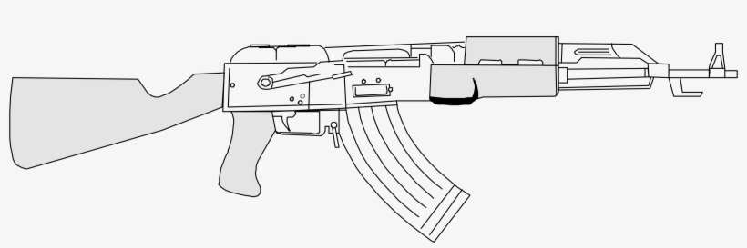 ak47 outline pin on taima concept imagery outline ak47
