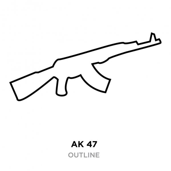 ak47 outline train to draw afro outline draw it yourself outline ak47