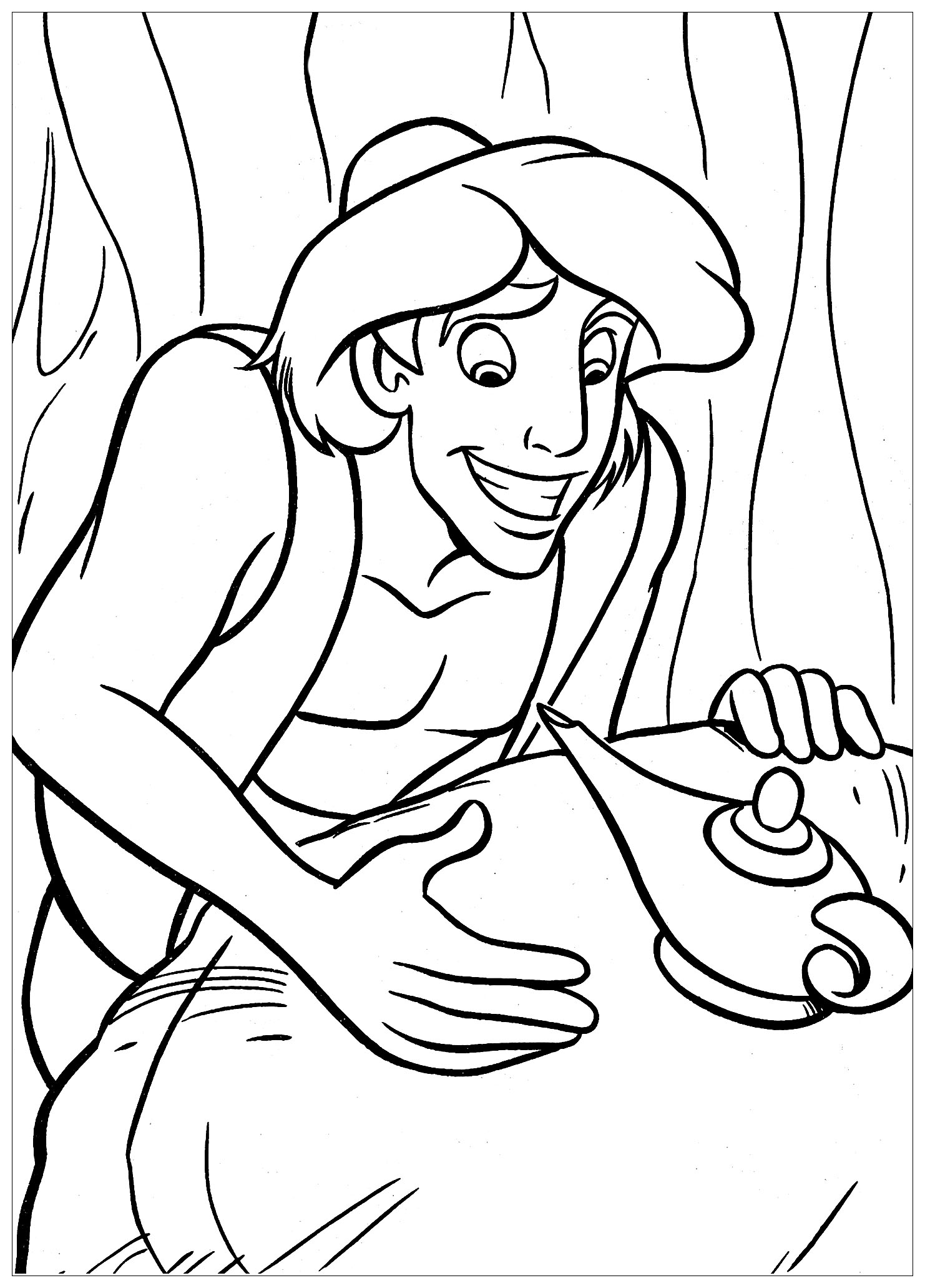 aladdin characters coloring pages aladdin and jasmine to color for children aladdin and pages coloring characters aladdin