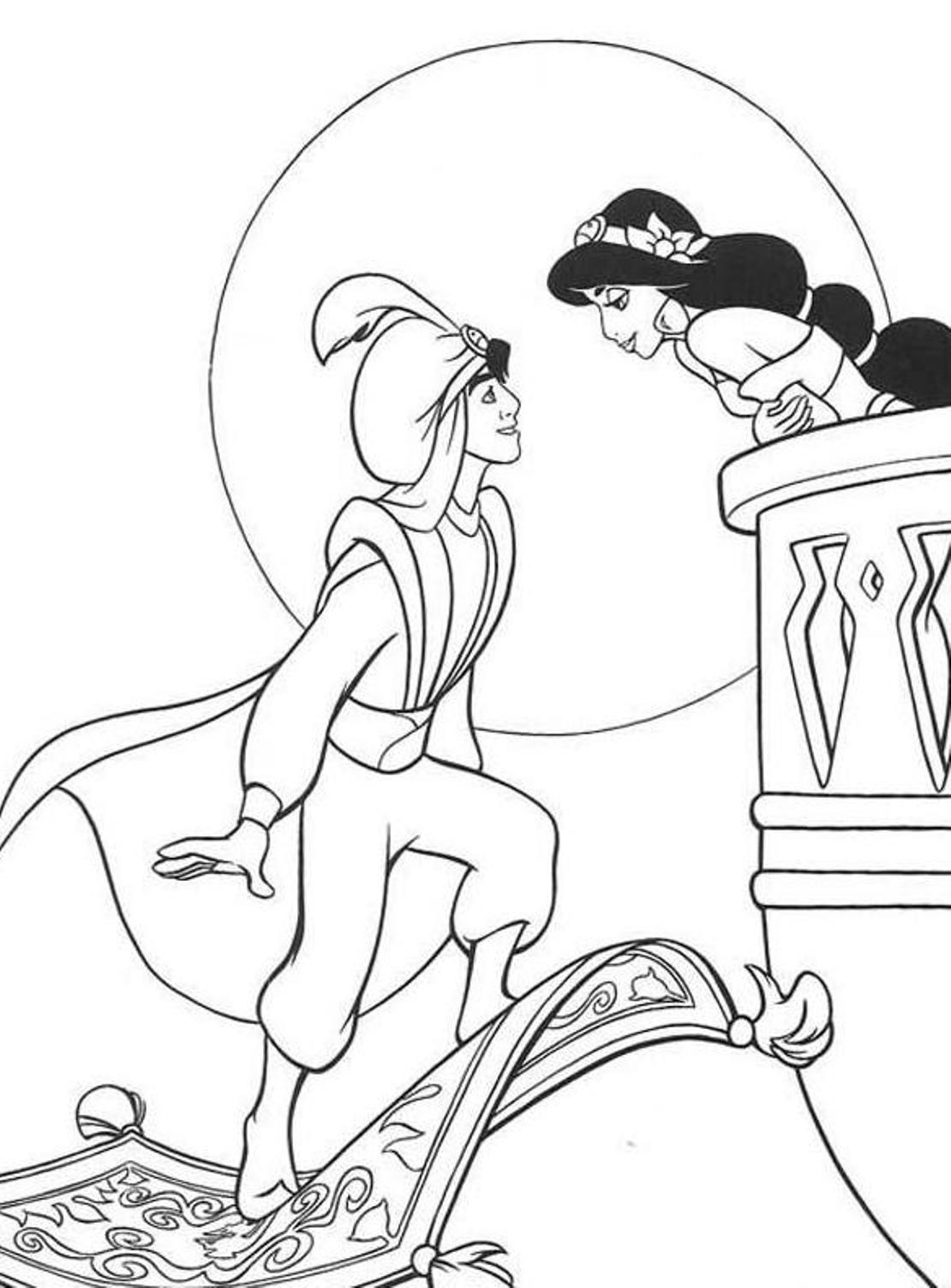 aladdin characters coloring pages aladdin coloring pages disneyclipscom aladdin characters pages coloring