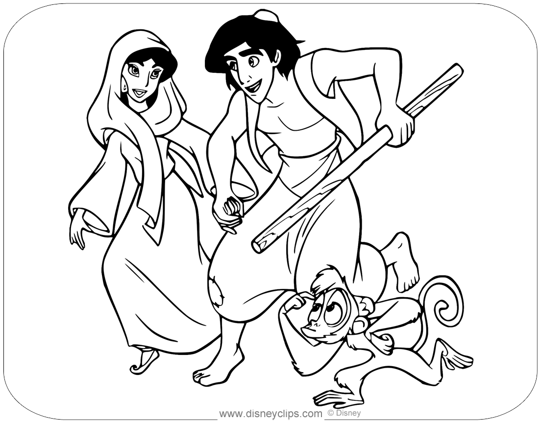 aladdin characters coloring pages aladdin coloring pages disneyclipscom characters coloring pages aladdin