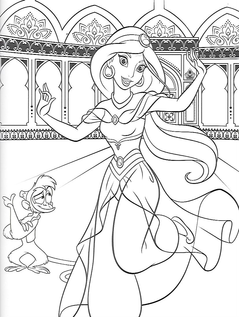 aladdin characters coloring pages disney aladdin abu monkey coloring pagesfree printable aladdin characters pages coloring