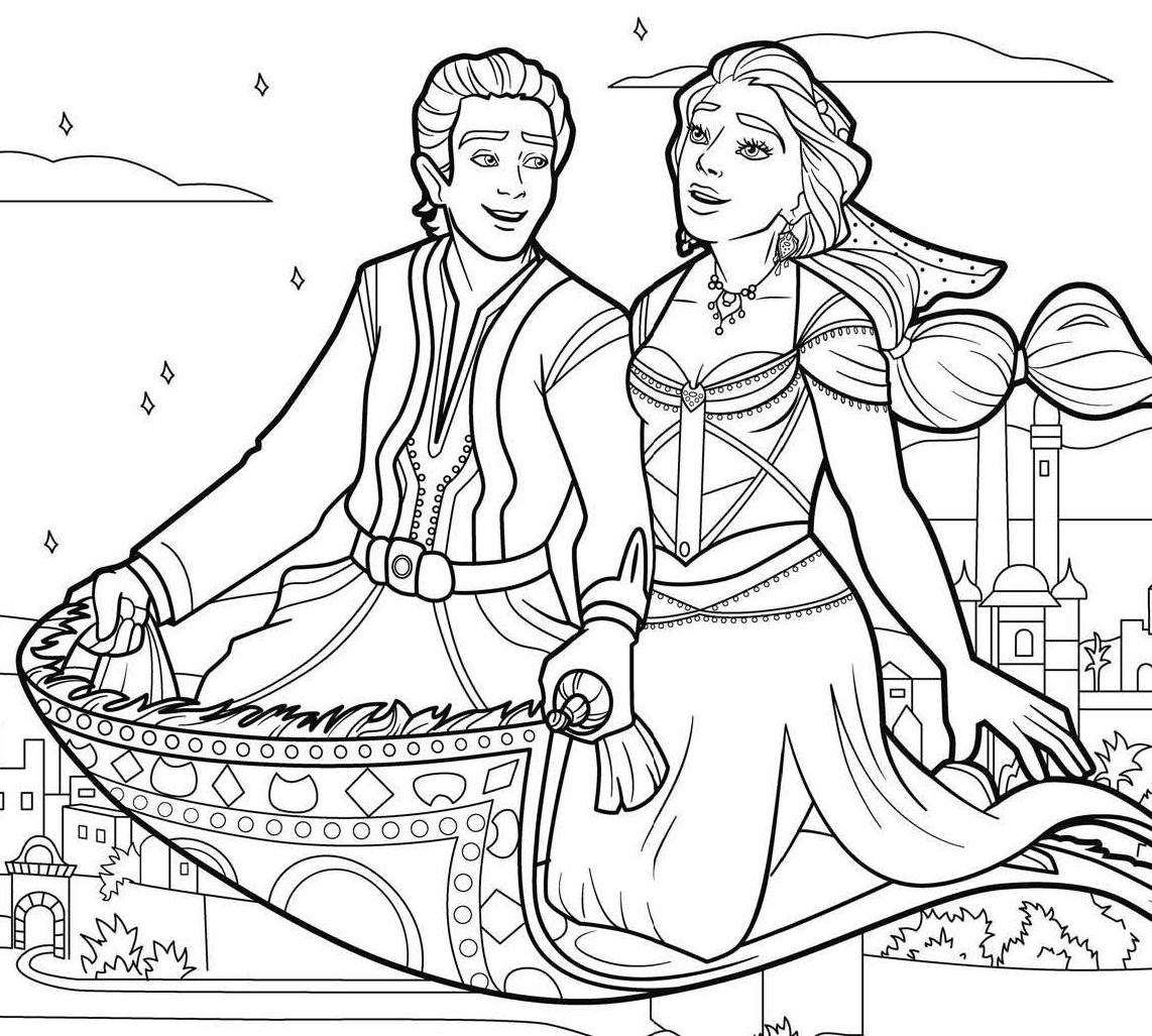 aladdin coloring page aladdin coloring pages 5 disneyclipscom aladdin coloring page