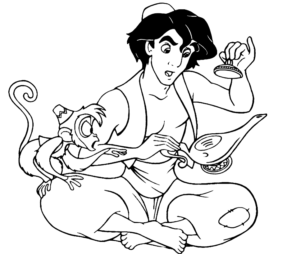 aladdin coloring page fun coloring pages aladdin coloring pages coloring aladdin page