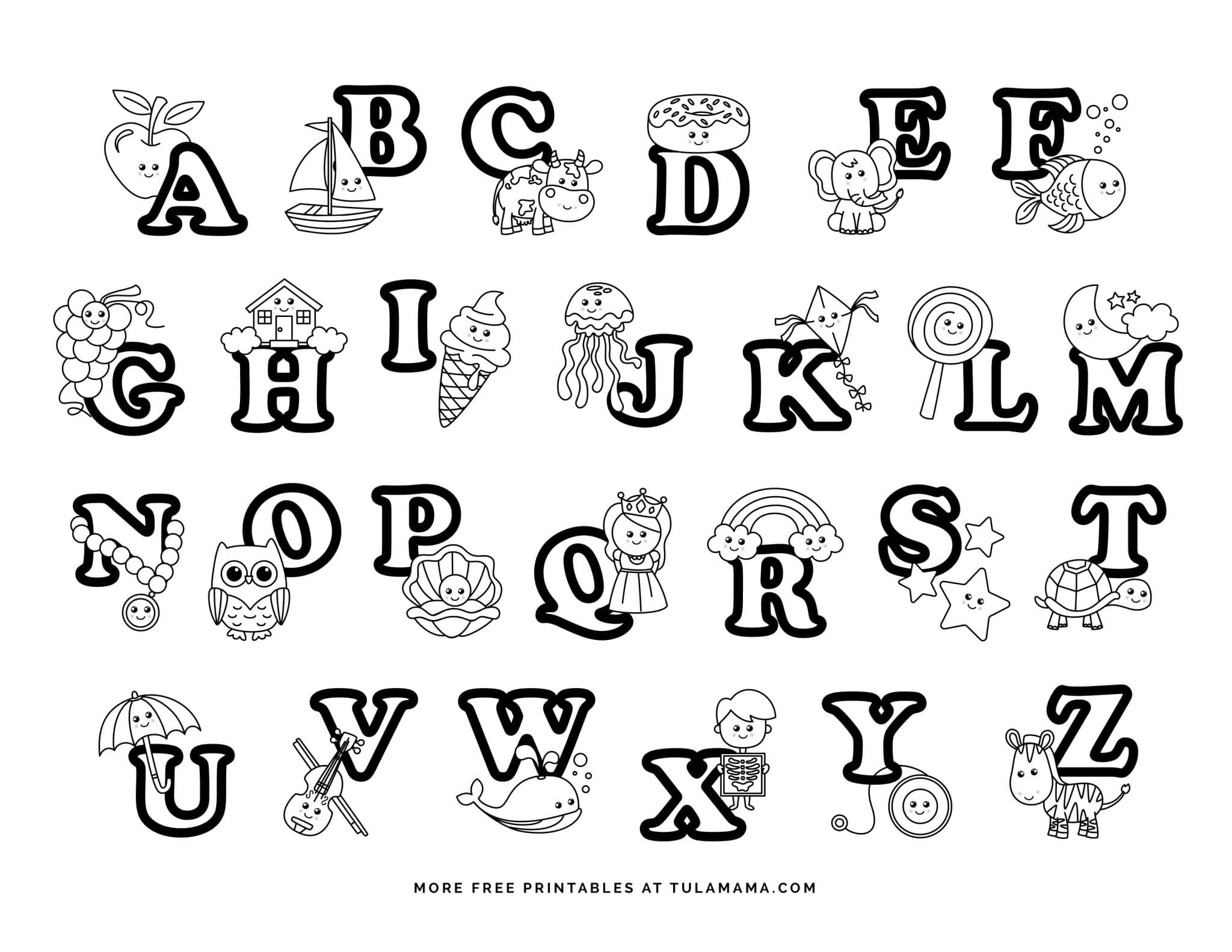 alphabet coloring book printable a z alphabet coloring pages download and print for free book printable coloring alphabet