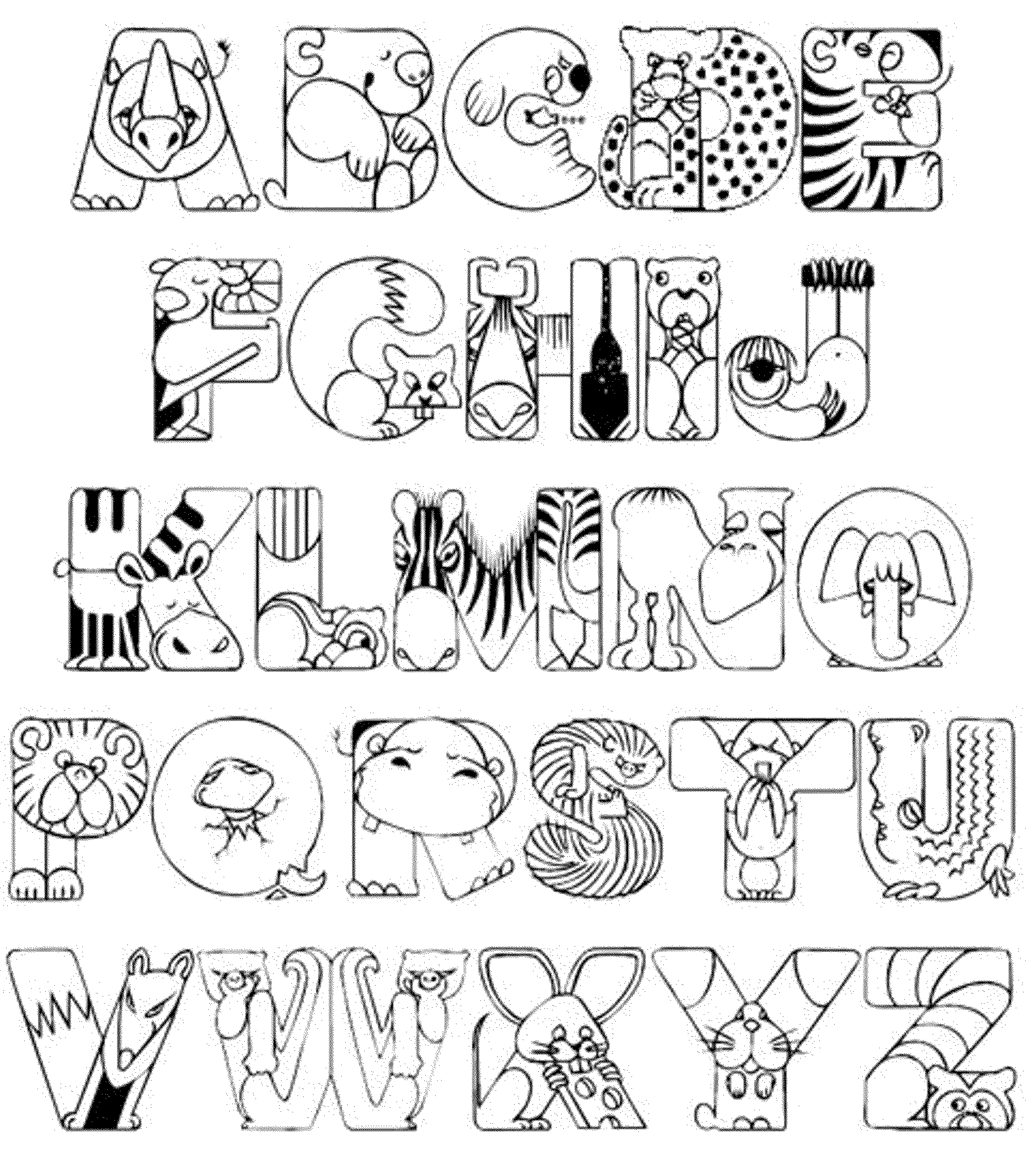 alphabet coloring book printable alphabet doodle alphabet coloring pages for kids to coloring alphabet book printable