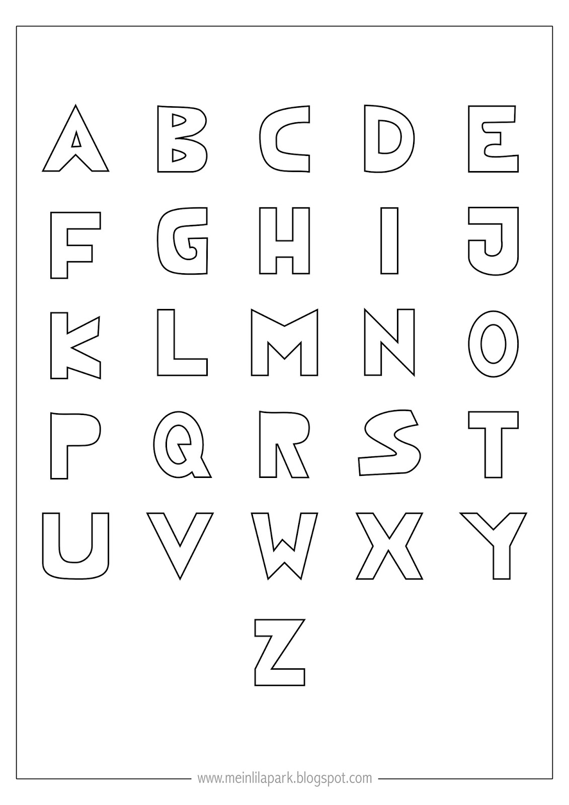 alphabet coloring book printable free printable coloring alphabet letters ausdruckbares alphabet coloring printable book