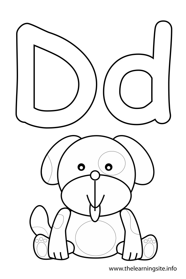alphabet d for coloring letter d is for dalmatian dog coloring page free for coloring d alphabet