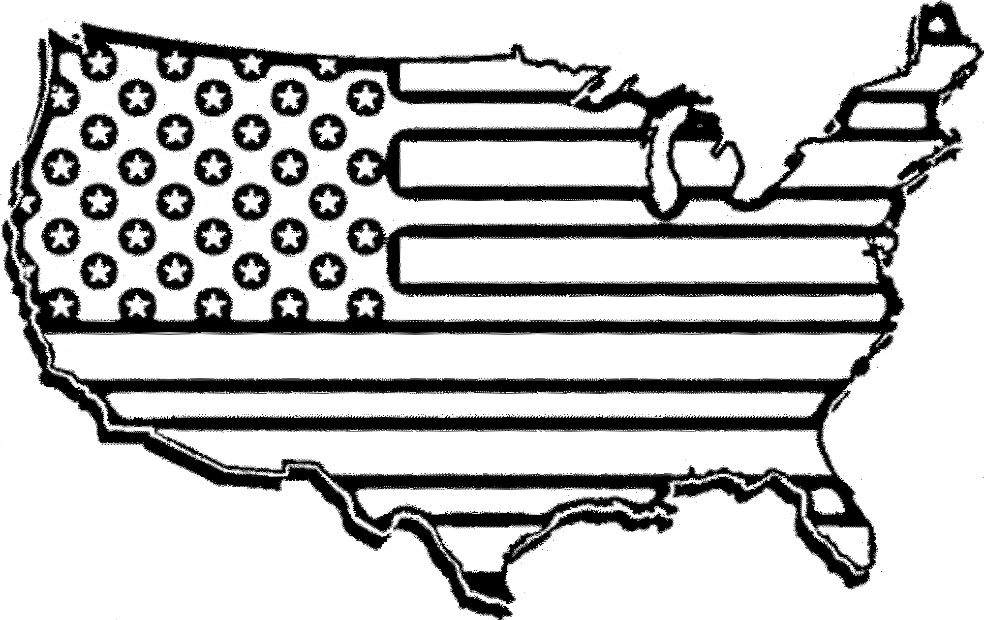 american flag to color coloring page american flag map flag american to color