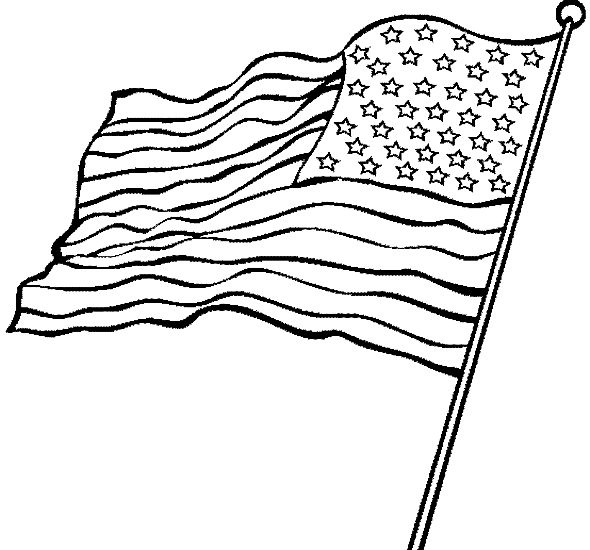american flag to color waving american flag drawing at getdrawings free download color american to flag
