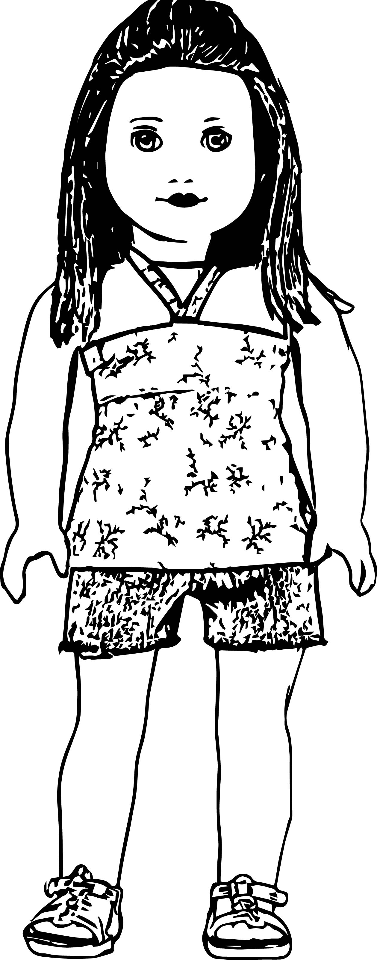 american girl doll coloring pages to print american girl doll drawing at getdrawings free download girl print american pages doll coloring to