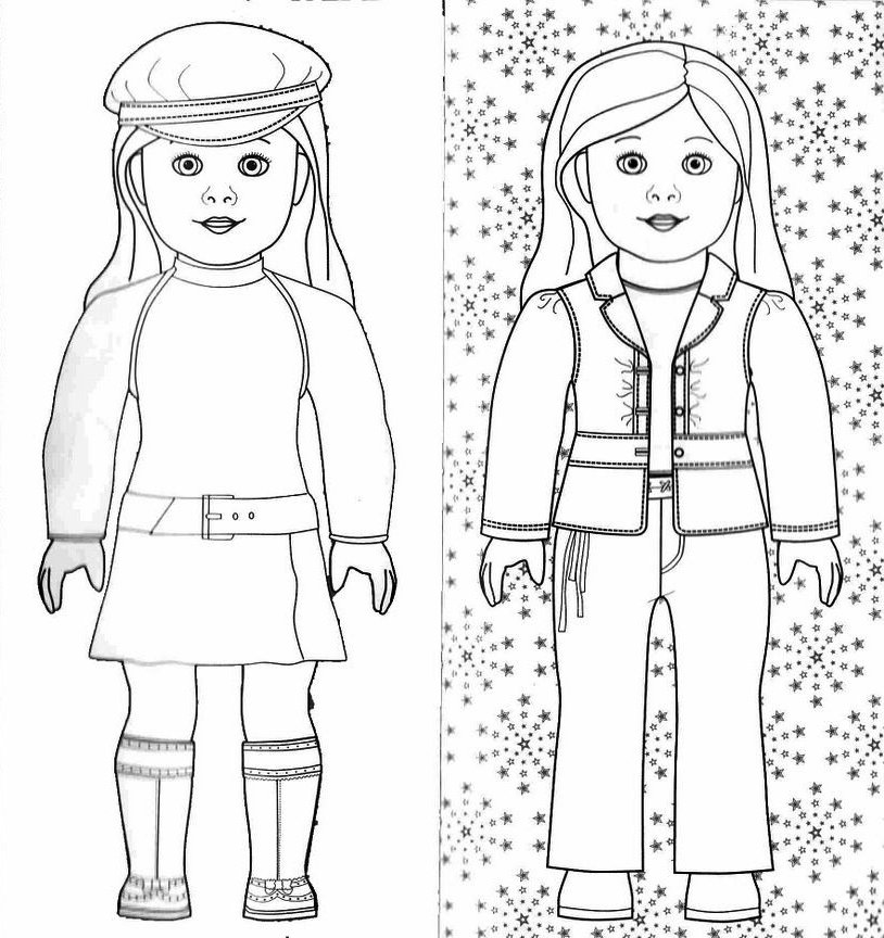 american girl doll coloring pages to print printable american girl doll coloring pages coloring sheets to american print coloring girl doll pages