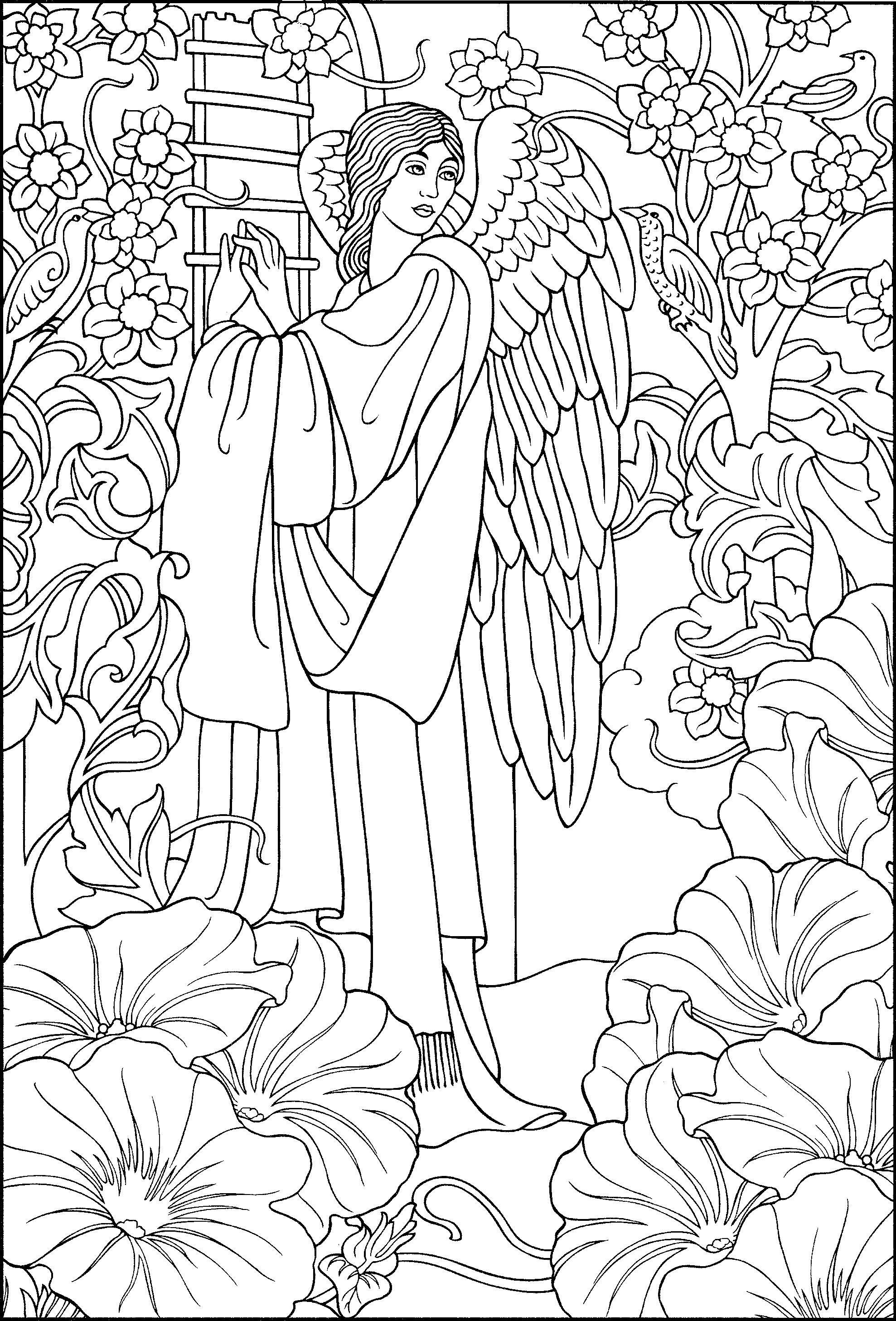 angel coloring pages for adults 61 best angels coloring pages for adults images on for adults angel coloring pages