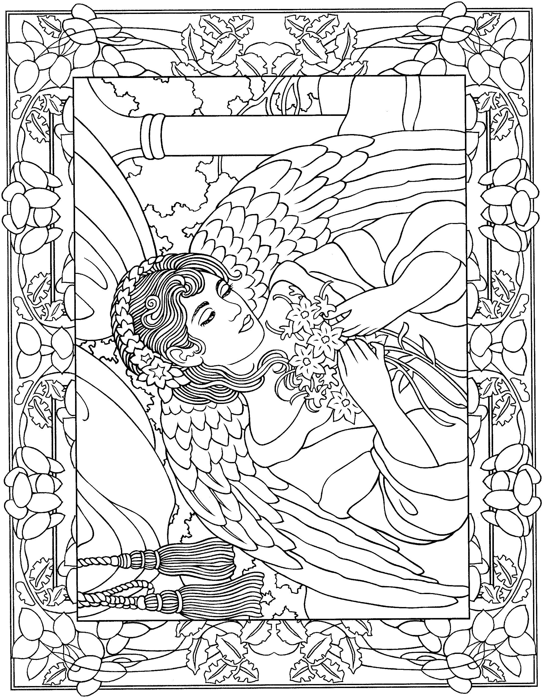angel coloring pages for adults angel coloring pages for adults coloring home adults coloring angel pages for