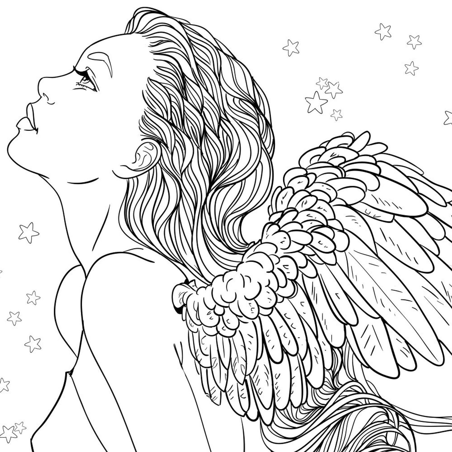 angel coloring pages for adults angel coloring pages tag 26 splendi angel coloring pages pages for adults angel coloring