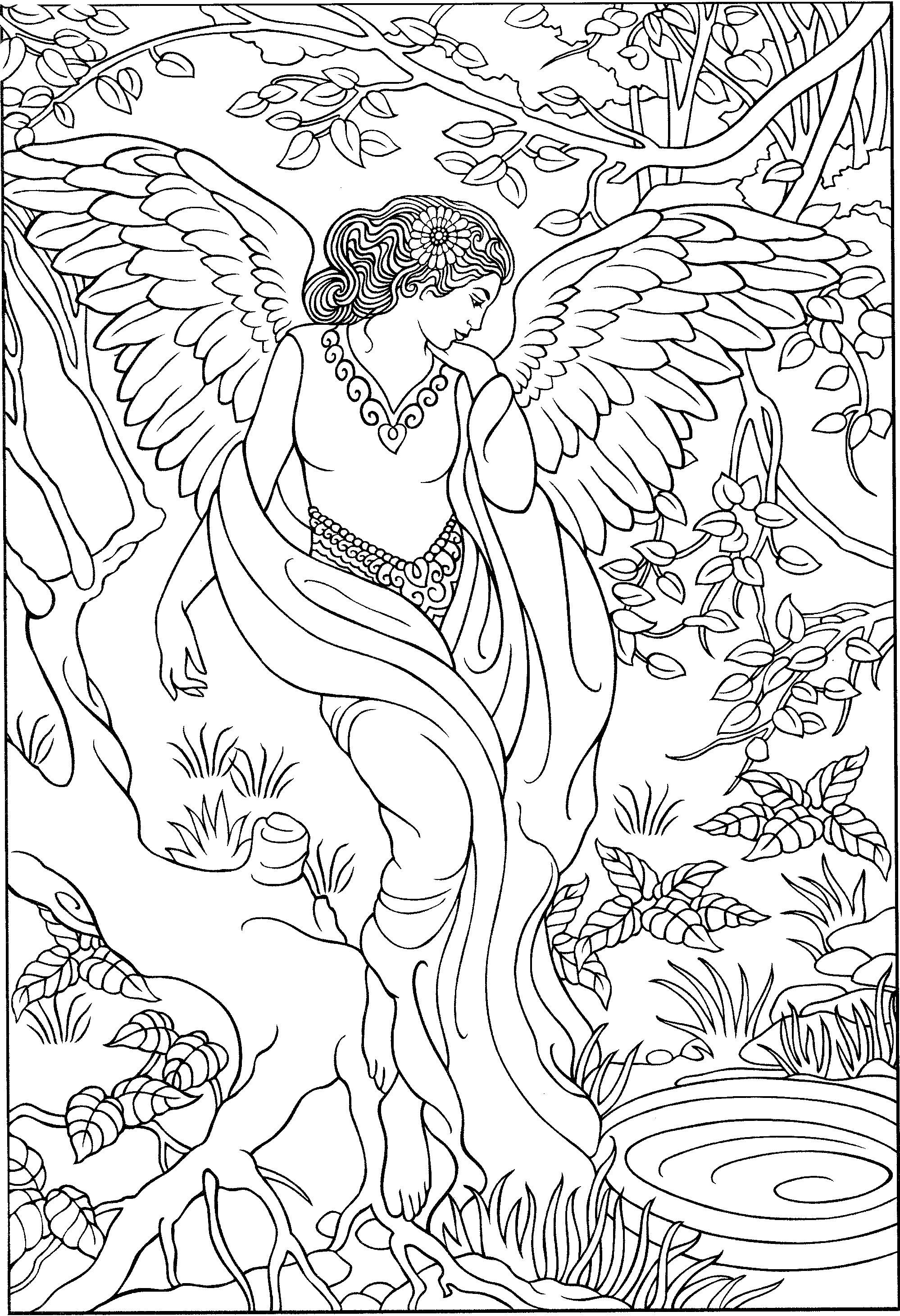 angel coloring pages for adults angel coloring sheet adult coloring sheet by pages angel coloring for adults