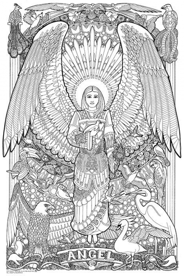 angel coloring pages for adults pin by claudia bullerkotte on zeichnen pinterest dover angel adults pages for coloring