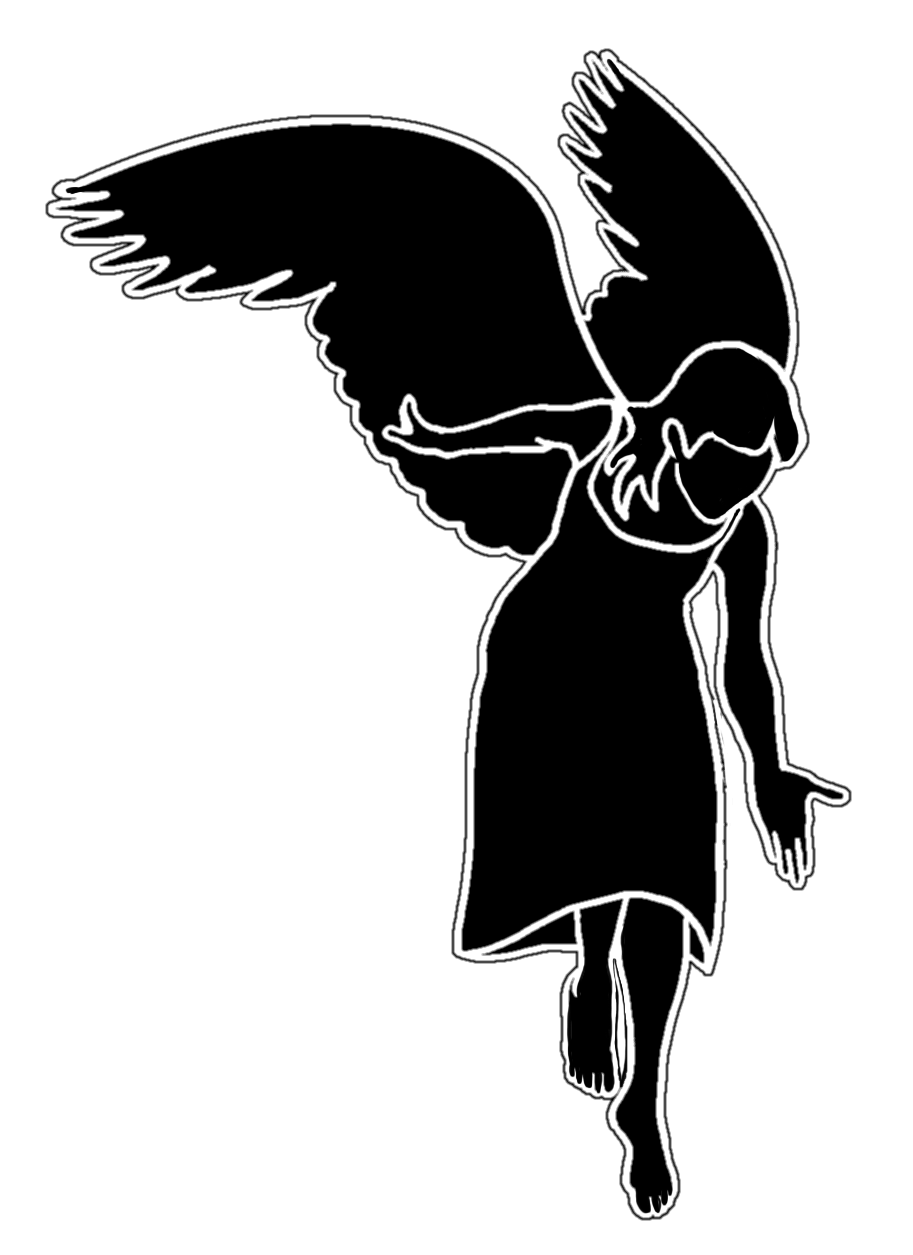 angel silhouette clipart free angel ornament silhouette 20 free cliparts silhouette angel