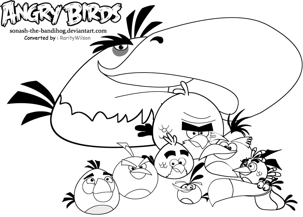 angry birds 2 coloring pages angry birds hatchlings bunch coloring page by pages coloring birds angry 2