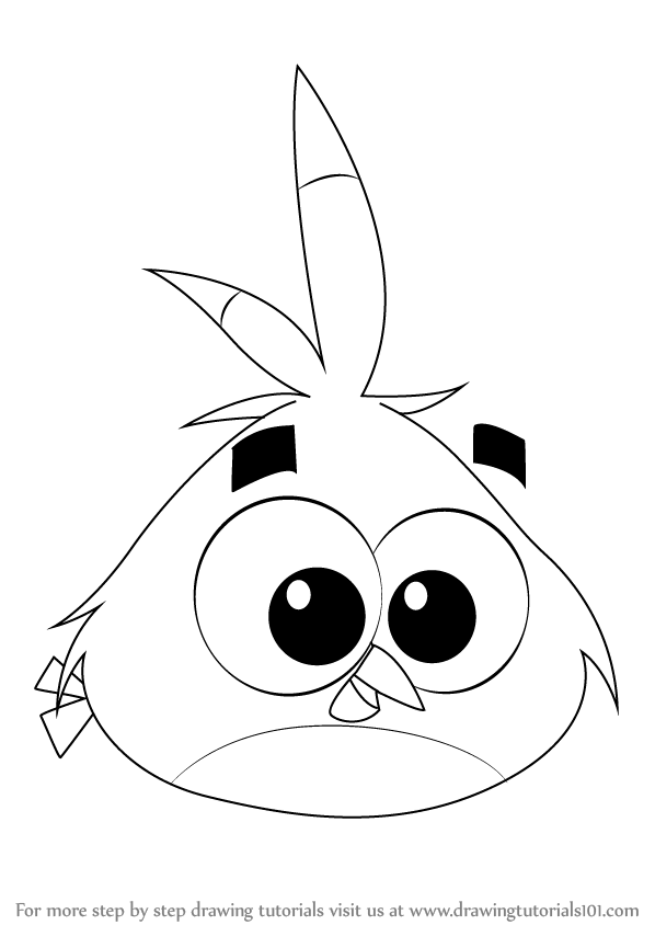angry birds outline pictures learn how to draw stella from angry birds angry birds pictures outline angry birds