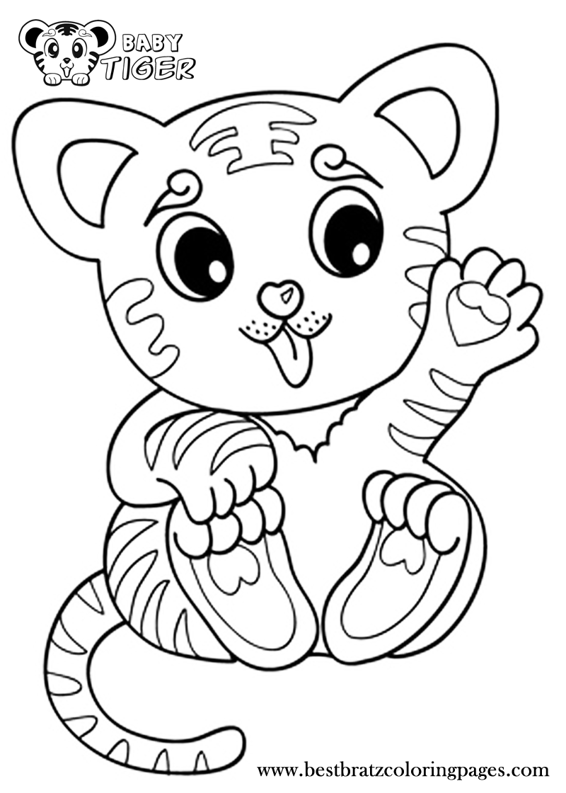 animal babies coloring pages coloring pages tiger cubs coloring home pages coloring animal babies