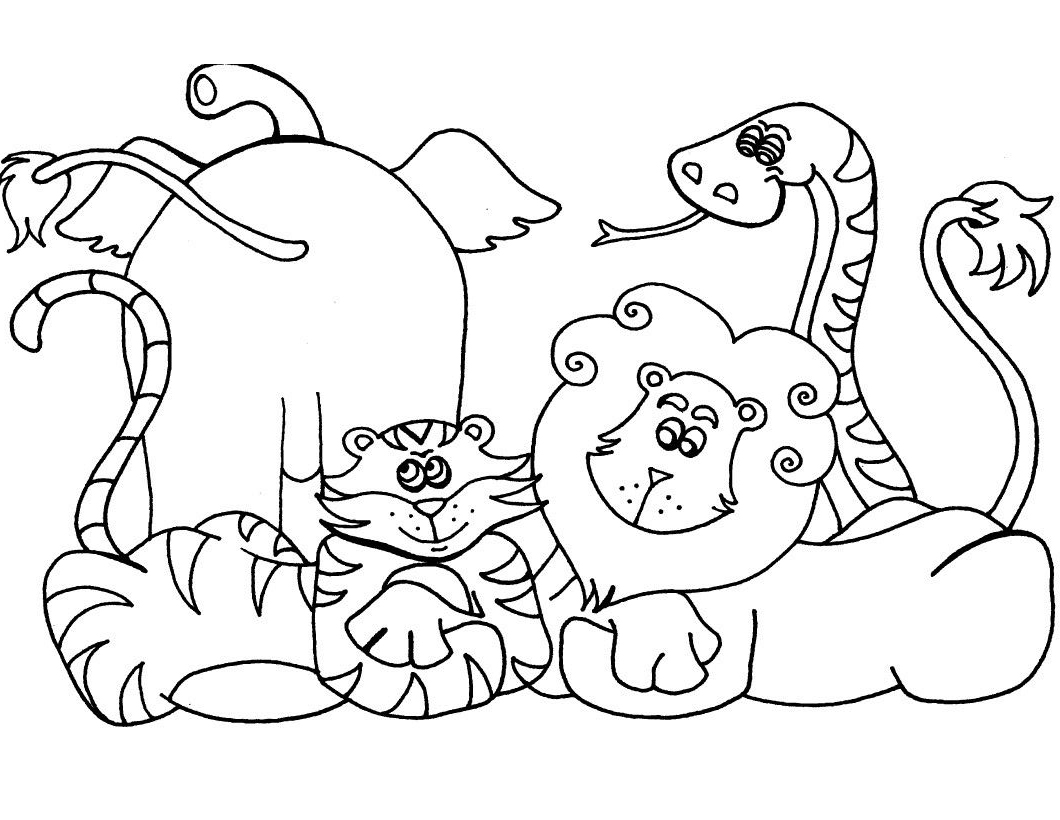 animal coloring pages for kids cute jungle animals coloring page for animal pages coloring kids