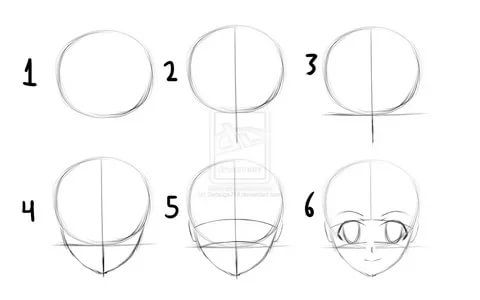 anime drawings step by step anime drawings for beginners step by viewing gallery face anime by step step drawings