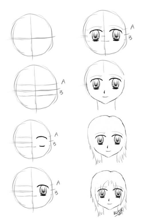 anime drawings step by step anime sketch step by step at paintingvalleycom explore step anime by drawings step