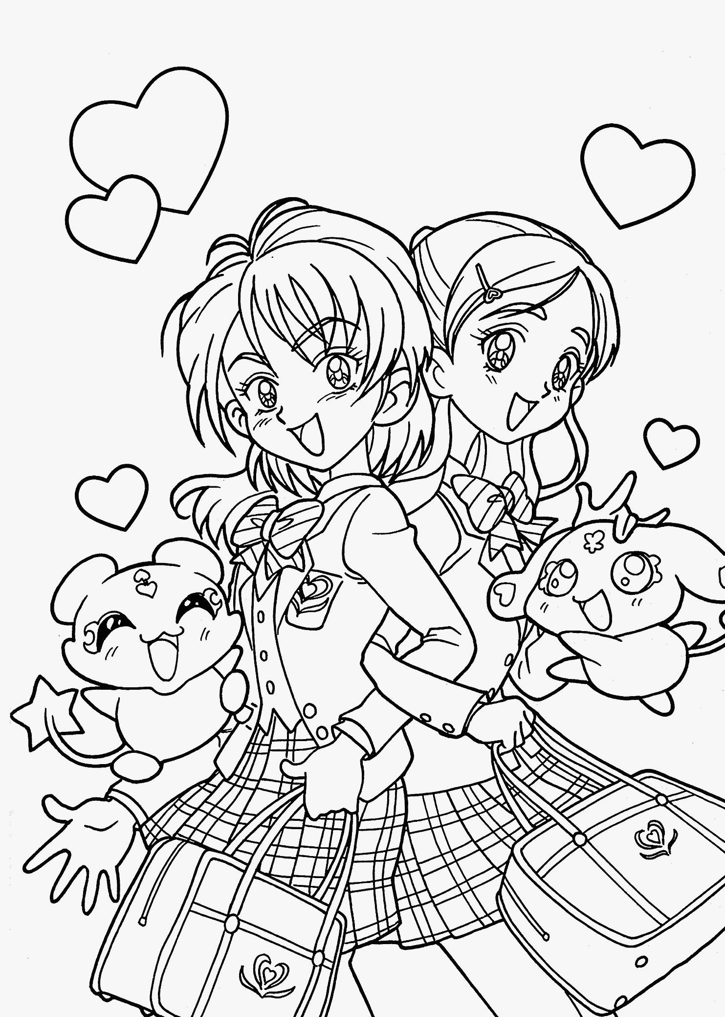 anime girl coloring pages to print anime cat girl coloring pages coloring home print to coloring girl anime pages