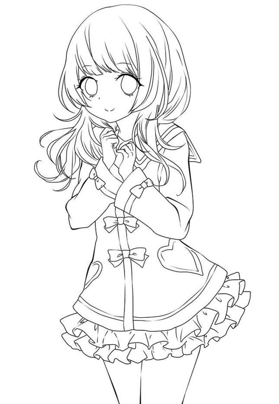 anime girl coloring pages to print free anime girl coloring page free printable coloring girl to print anime coloring pages