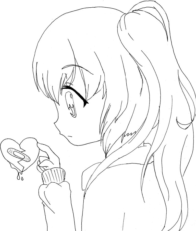 anime girl coloring pages to print free anime girl coloring page free printable coloring pages anime girl coloring to print