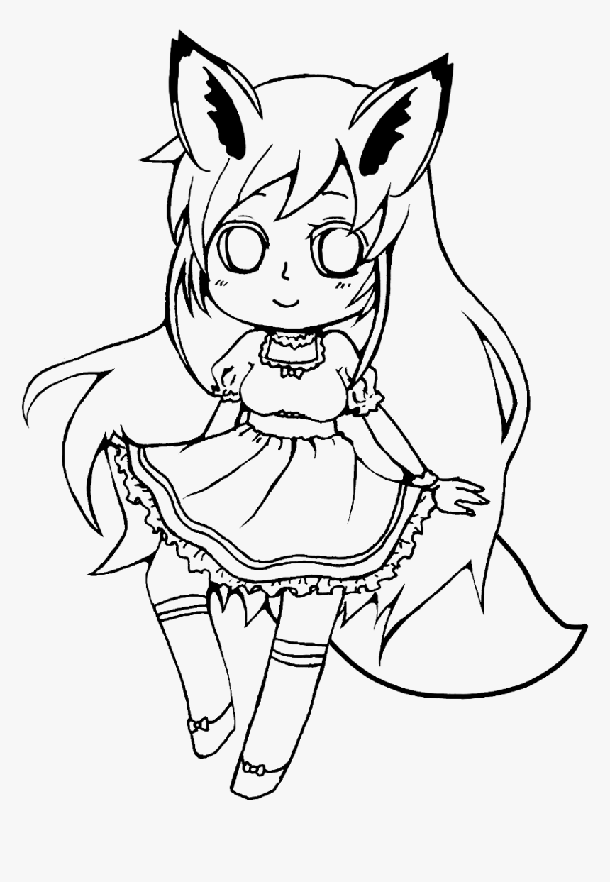 anime girl outline animated people drawing at getdrawings free download outline anime girl