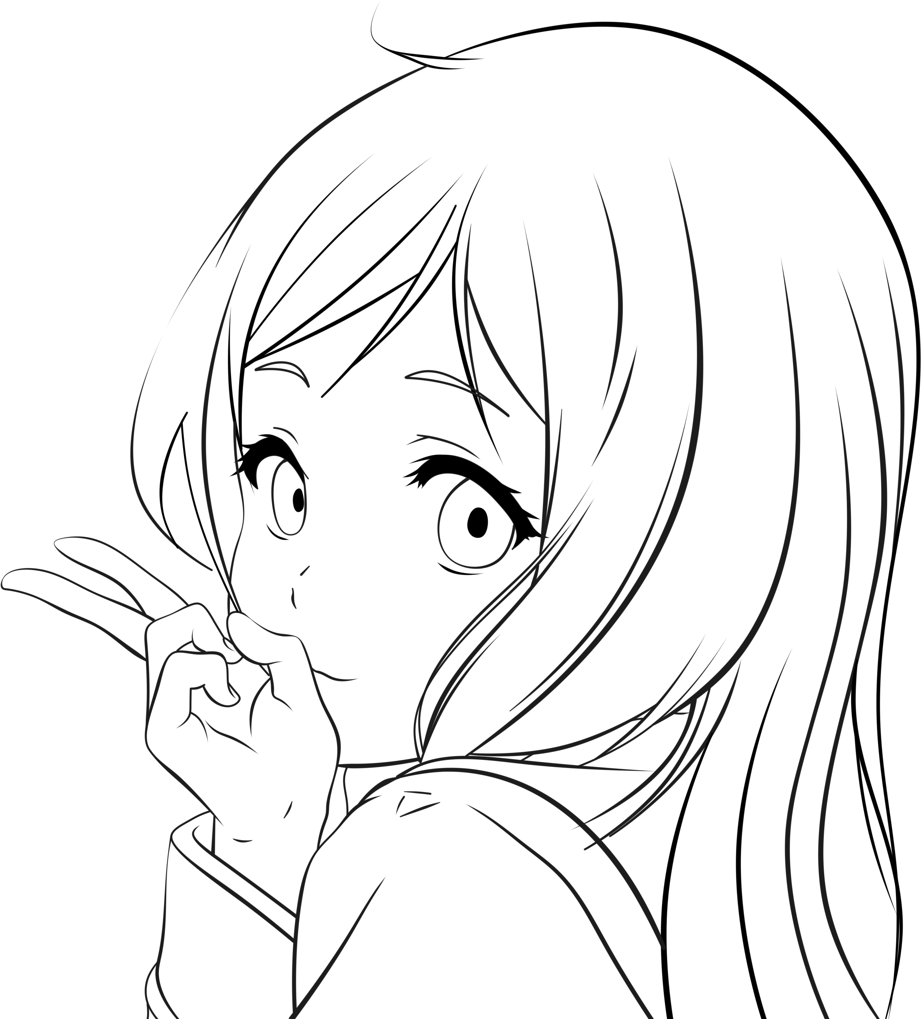 anime girl outline anime girl outline pictures to pin on pinterest pinsdaddy girl anime outline