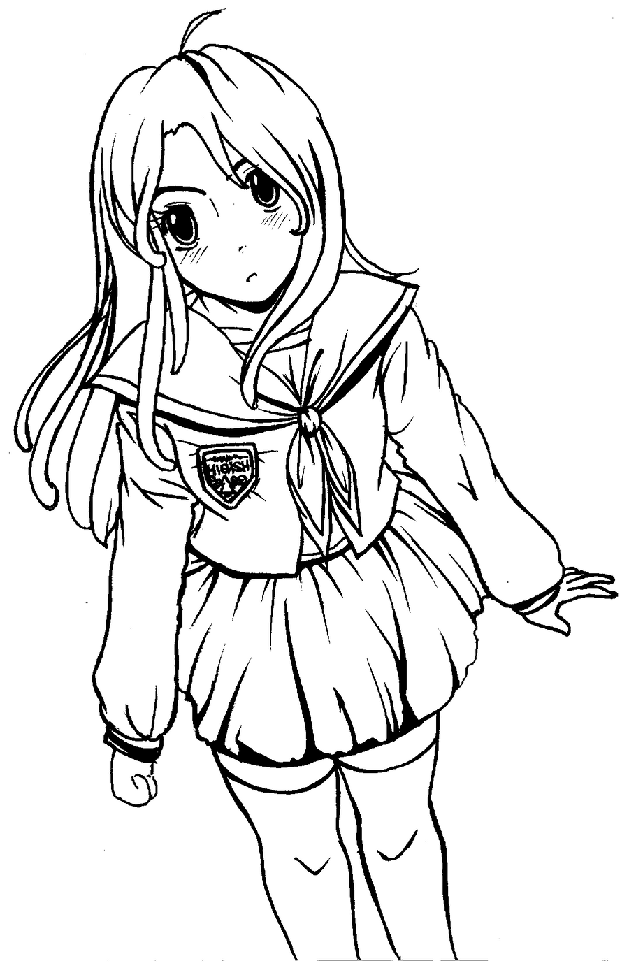 anime girl outline anime outline drawing at getdrawings free download girl anime outline
