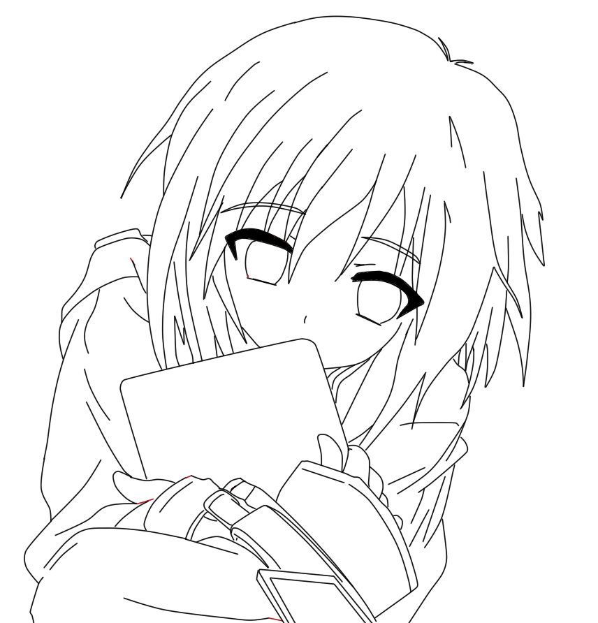 anime girl outline anime outline png picture 383322 anime outline png outline anime girl