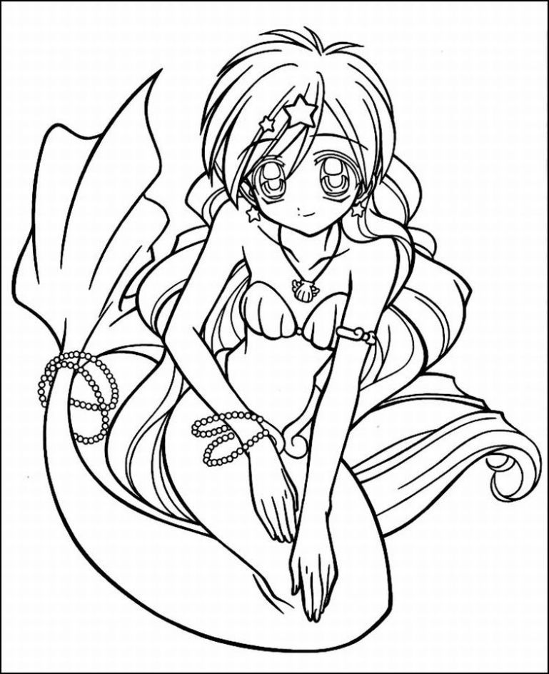 anime mermaid girl coloring pages anime color sheets valentines day coloring pages anime mermaid anime girl pages coloring