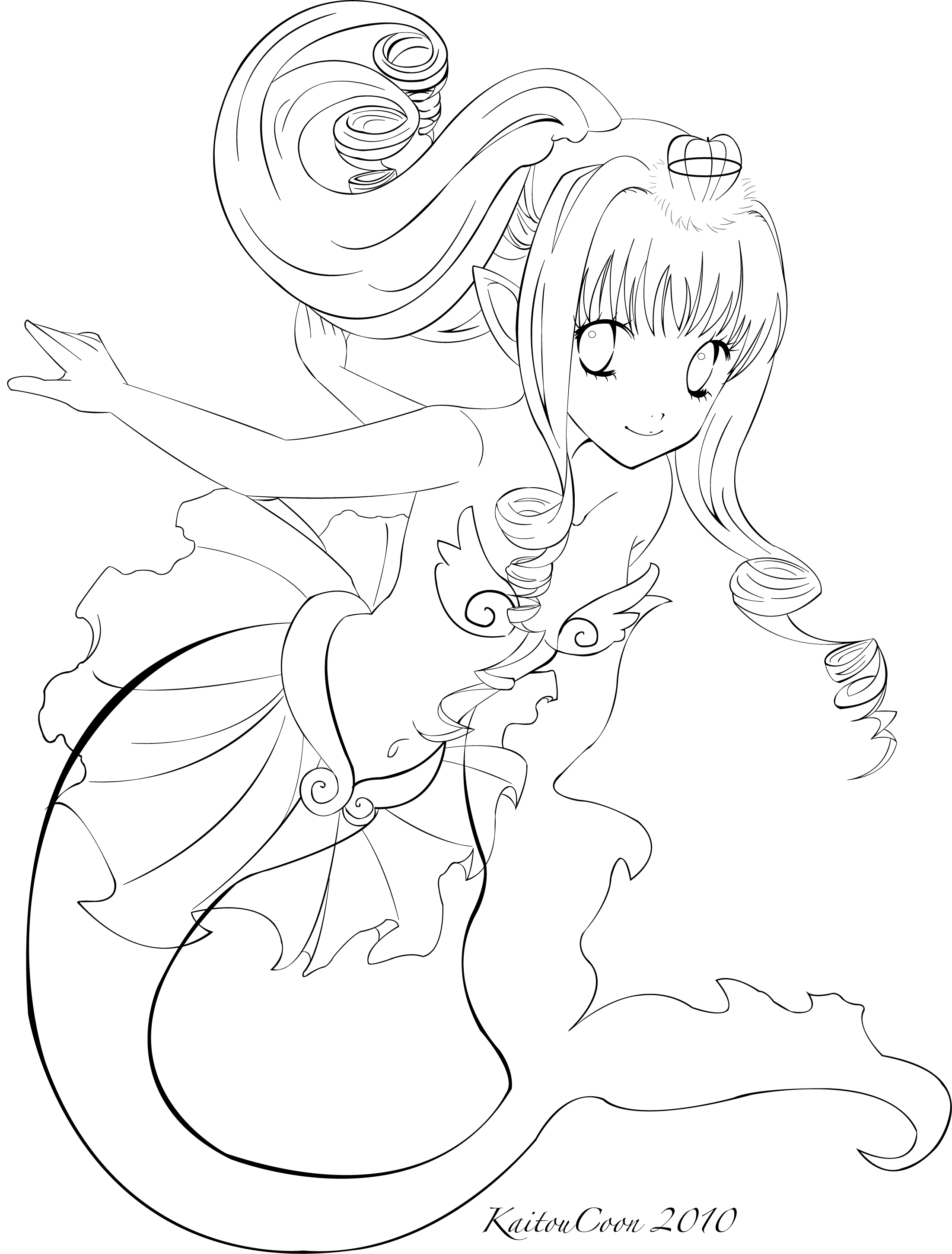 anime mermaid girl coloring pages anime mermaid coloring pages at getcoloringscom free pages mermaid girl anime coloring