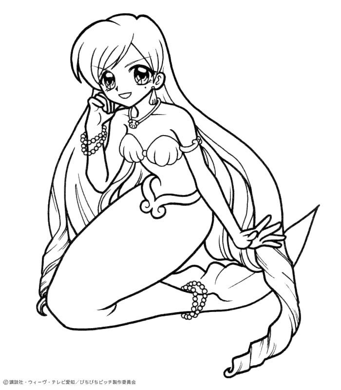 anime mermaid girl coloring pages arielthelittlemermaidmermaybyyampuff d5h5es4 coloring anime pages mermaid girl
