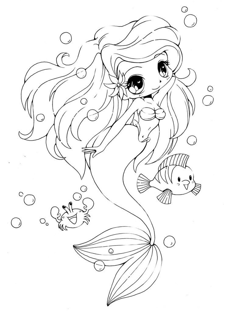 anime mermaid girl coloring pages cute mermaid coloring pages coloring pages girl mermaid coloring pages anime