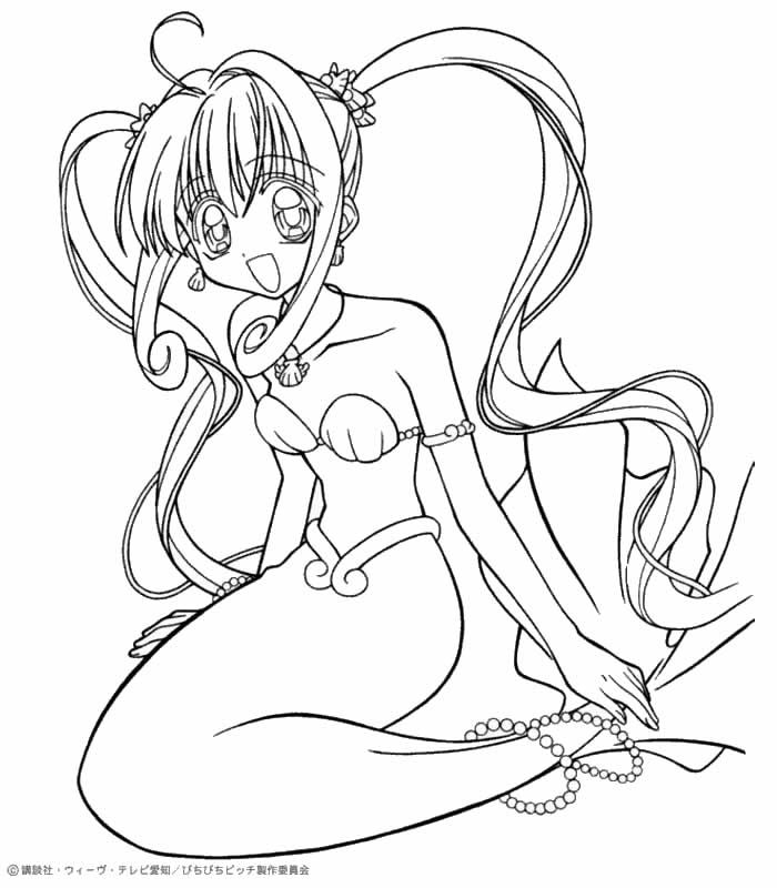 anime mermaid girl coloring pages mermaid melody coloring pages  google search anime pages mermaid coloring anime girl